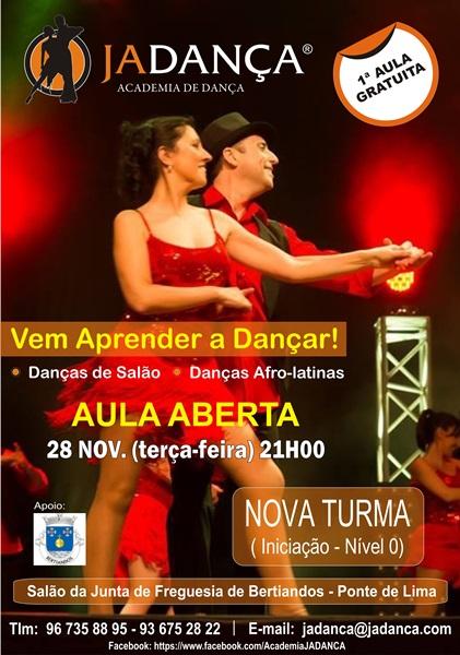 Vem aprender a dançar: Danças de Salão e Afro-latinas. 1ª aula 28-11-2017 é gratuíta!