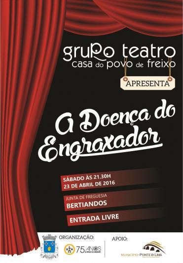 """Teatro """" A Doença do Engraxador""""."""