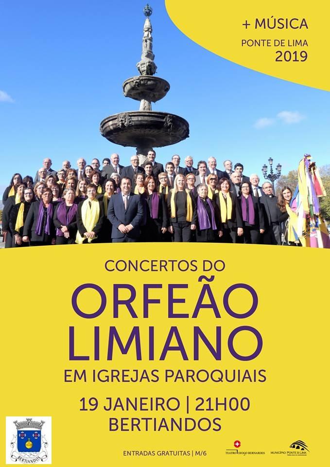 Concerto do Orfeão Limiano na Igreja Paroquial de Bertiandos