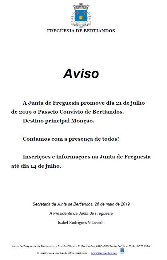 Passeio Convívio de Bertiandos 2019