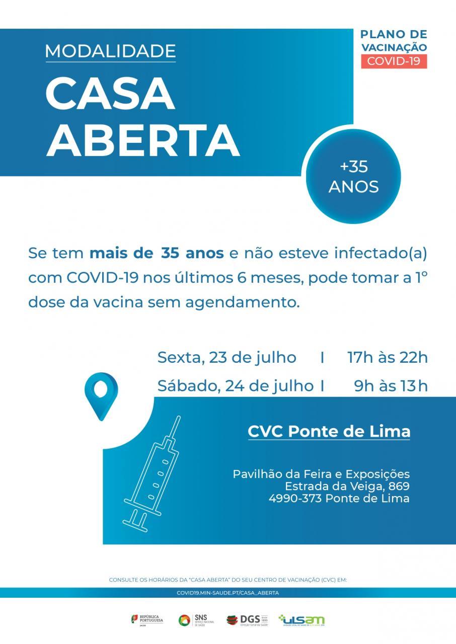 Casa Aberta Vacina Covid