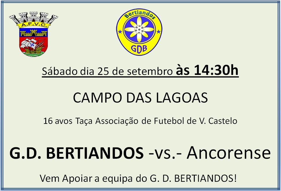Taça AFVC  GD Bertiandos - Ancorense