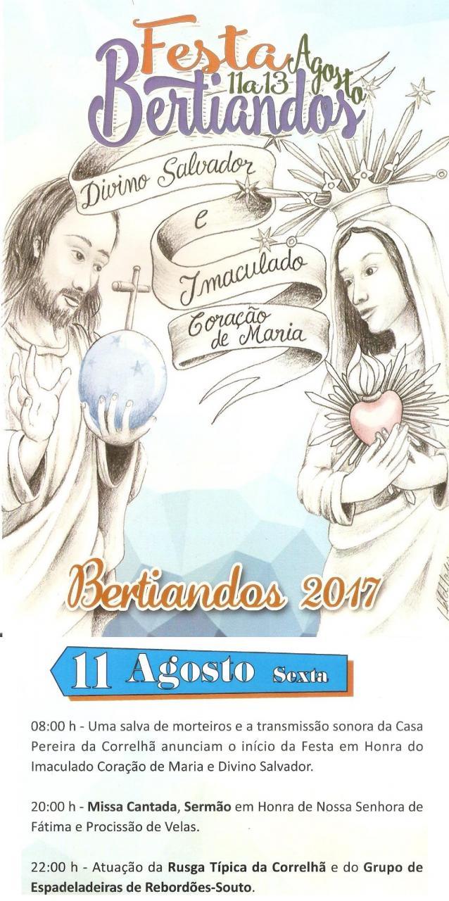 Festa de Bertiandos dia 11-08-2017