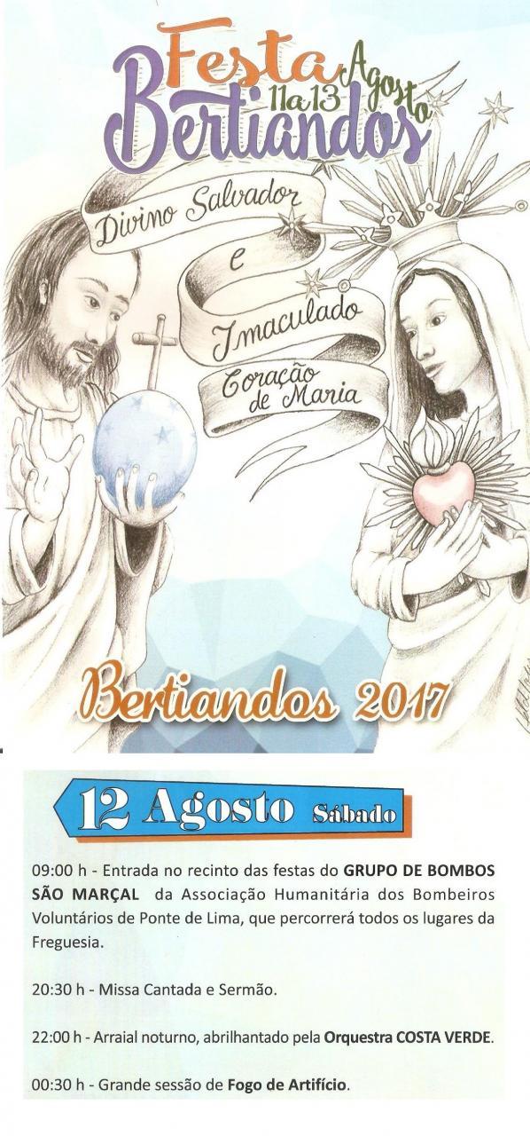 Festa de Bertiandos dia 12-08-2017