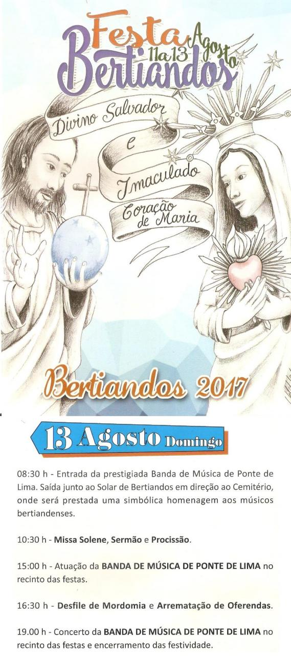 Festa de Bertiandos dia 13-08-2017