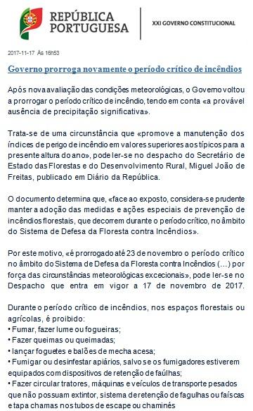 4ª Prorrogação do período critico de risco de incêndio.
