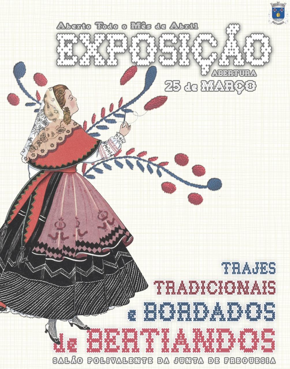 Exposição Trajes Tradicionais e Bordados de Bertiandos
